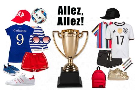Flagge zeigen, aber mit Stil! Die It-Pieces zur Fußball EM 2016 – Collage by Torsten Gatterdam © kaltes klares wasser