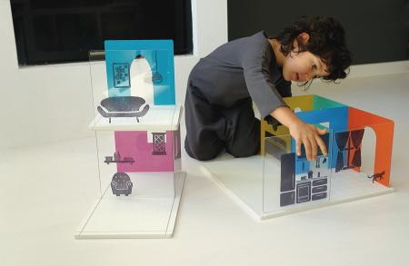 Im Spiel versunken: Architektonische Gestaltung übt eine große Faszination auf Kinder aus ...