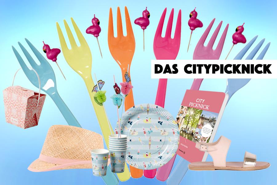 Von der Kuchengabel bis zum Sonnenhut: Eine Picknick Party in den Farben Miamis. Collage by Torsten Gatterdam © kaltes klares wasser