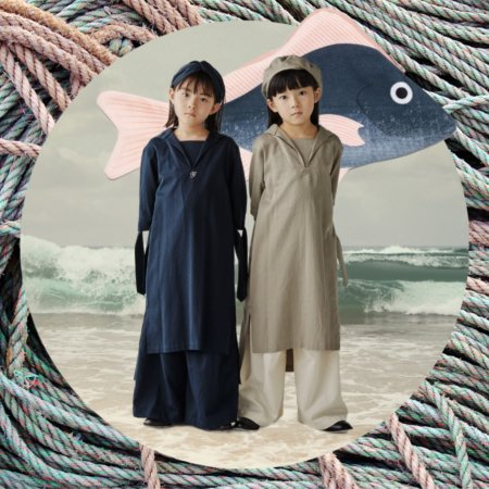"""""""Wir trugen immer Matrosenkleider"""": Susanna Agnellis Roman ist ein Klassiker ebenso wie der Sailor Style, der hier vom japanischen Label GRIS neu interpretiert wird"""