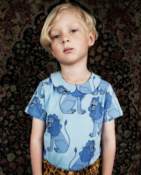 Roarrr... die barocken Marmor-Löwen auf der Isola Bella waren Inspiration für dieses goldige T-Shirt von Mini Rodini für SS17