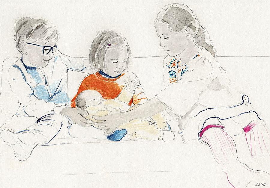 Illulia kinderportraits kommunikationsdesign und for Sofa zeichnen kinder