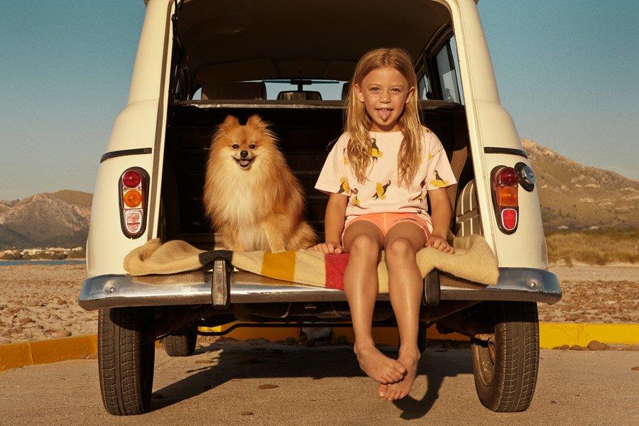 Hauptsache nicht an den Ballermann! Zwergspitz Otto und das Mädchen in Fresh Dinosaurs freuen sich auf den Inselurlaub