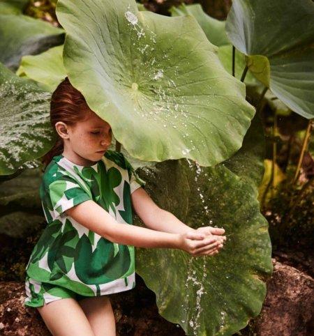 In the Mood for Green: Das Kindermodelabel Il Gufo setzt für SS17 auf die belebende Wirkung von Grün – © Il Gufo