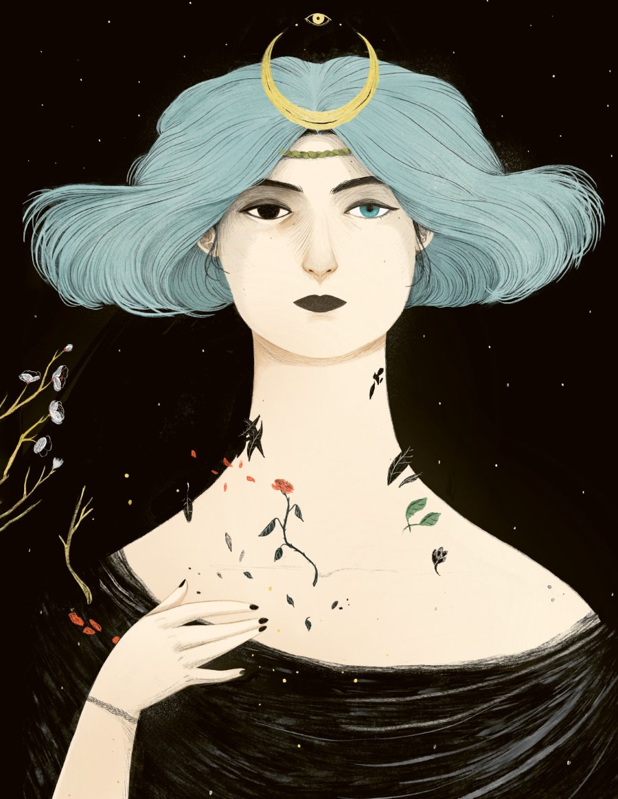 """Vom Mittelalter bis in die Popkultur: Das neue Hexenbuch """"Secrets of the Witch"""" porträtiert berühmte Magierinnen. © Wide Eyed Editions"""