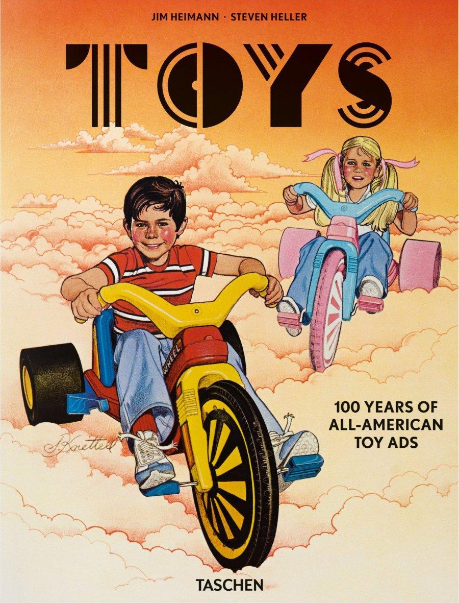 Playing in America: Das Big Wheel Tricycle, ein Kult-Spielzeug aus dem Jahr 1981, thront prominent auf dem Cover © TASCHEN