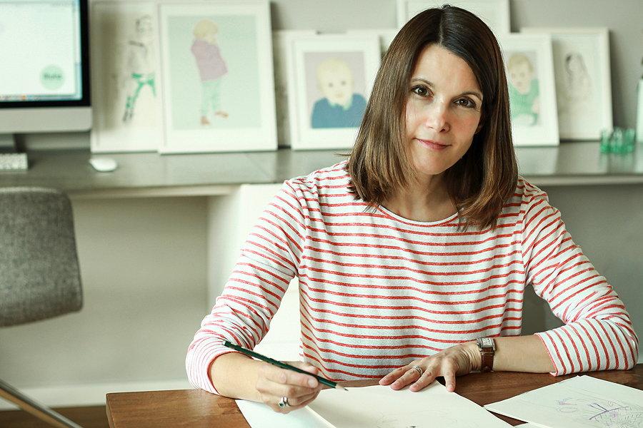 Hinter Illulia Kinderportraits steckt Christine Sehm, eine leidenschaftliche Illustratorin – Photo © Malina Ebert