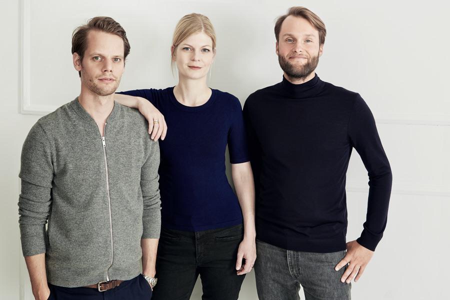 Hinter dem neuen Hamburger Interior Label uuio stehen Johann Cohrs, Pia Cohrs und Sebastian Kühnel - Photo © PR uuio