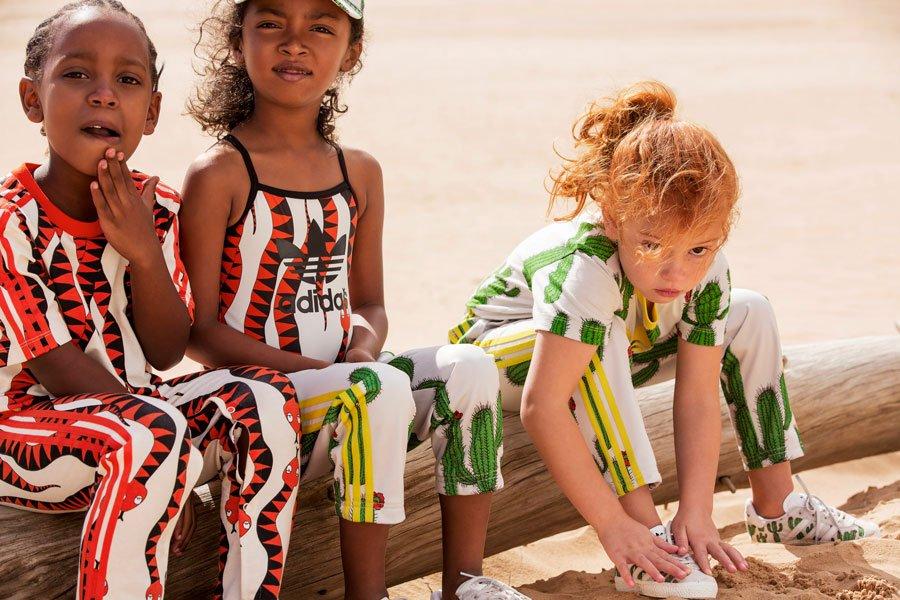 Knallbunt und erfrischend anders: Die neue Kollektion von adidas Originals by Mini Rodini ist etwas für Modemutige!