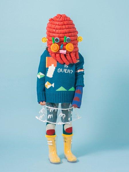 Expressionistische Upcycling-Mode für AW17/18 © Lucho Torres