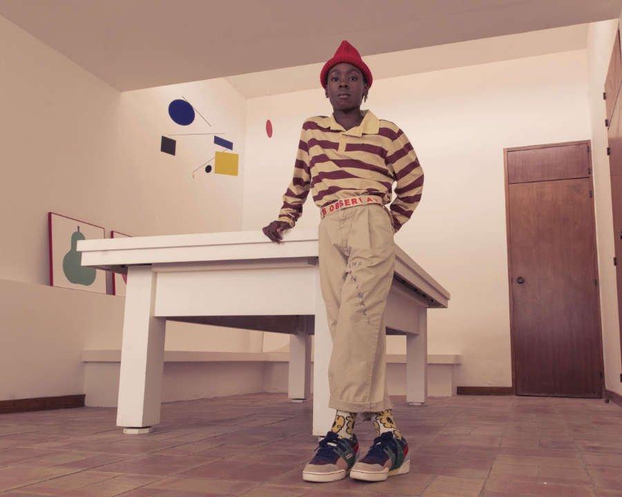 Sneaker für Kinder mal sehr expressionistisch: Der Workout Plus von Reebok im Color-Blocking-Design von Laia Aguilar
