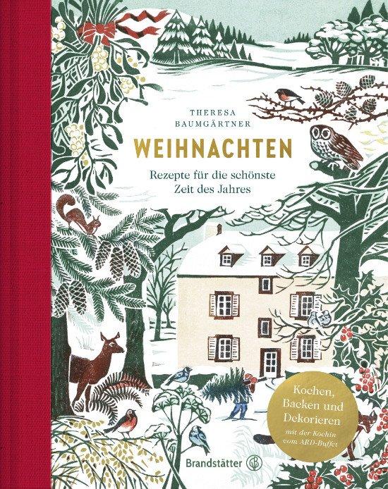 """Inmitten einer schneeweißen Winteridylle ruht das """"Hazelnut House"""", illustriert von Clare Melinsky"""
