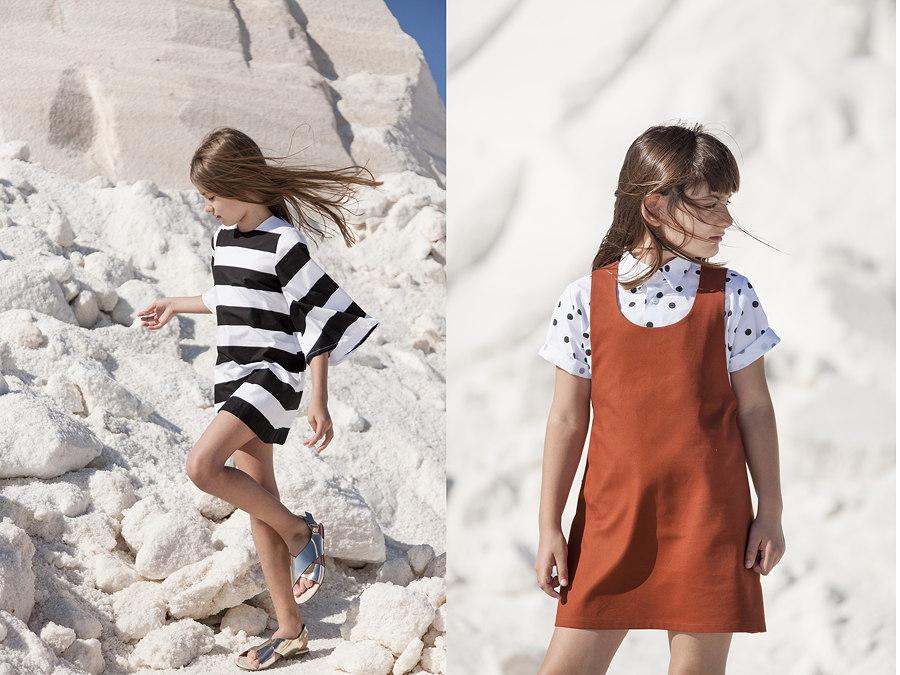 """Blockstreifen und Polka-Dots – das """"Lucena Dress"""" und das """"Cordoba Shirt"""" in Kombination mit dem """"Palma Dress"""""""