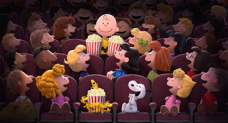 Charlie Brown und seine Popcorntüten, kurz bevor das Missgeschick passiert – Image © Twentieth Century Fox