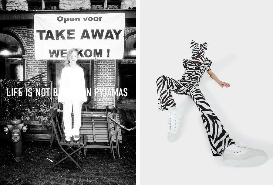 Mal schnell ne Semmel holen und als Zebra den Karneval nachfeiern. Mode in Zeiten von Corona soll endlich Spaß machen!