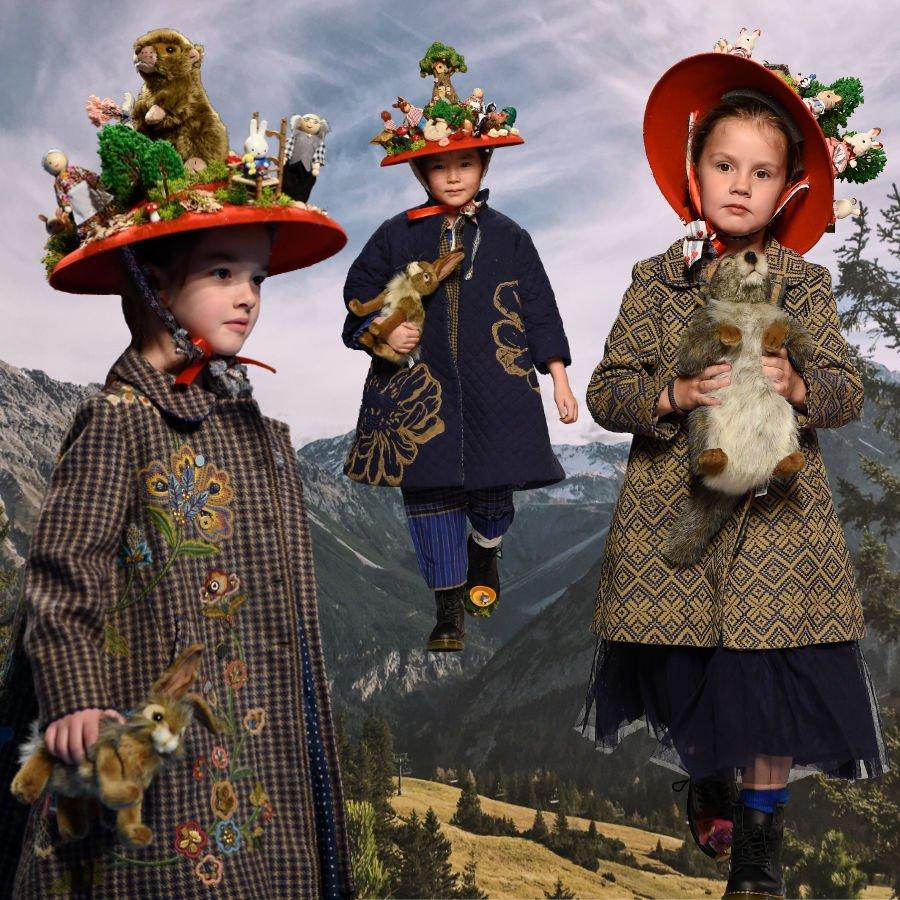 Und täglich grüßt das Murmeltier... indisch-alpine Culture-Clash-Fashion von Péro. Runway Images © G. Giannoni