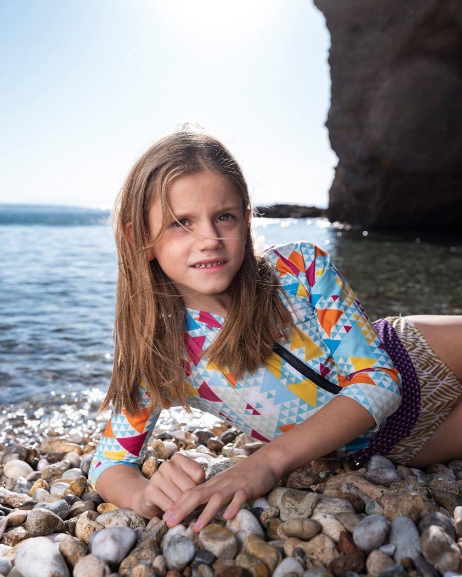 Amphitrite: Das Athener Swimwear Label OCEAN HERO liefert den Rashguard-Badeanzug für einen modernen nixenhaften Auftritt