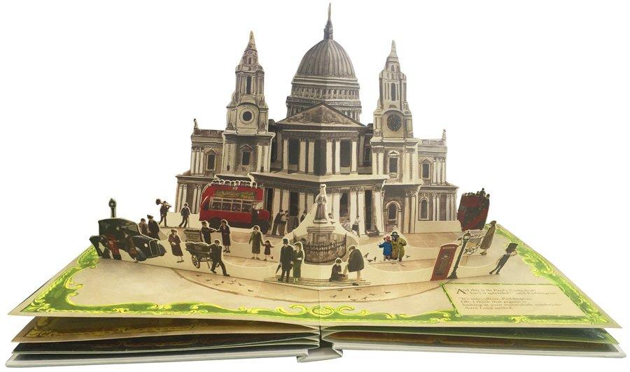 Findest du Paddington und Tante Lucy vor der St. Pauls Cathedral? So spielerisch leicht kann Stadtkunde sein © Knesebeck Verlag