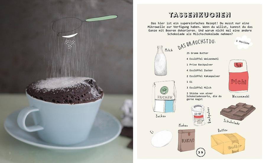 Tassenkuchen – Step by Step. Illustrationen von Katy Kimbell und Li Söderberg aus Lass uns was backen © Kleine Gestalten 2015