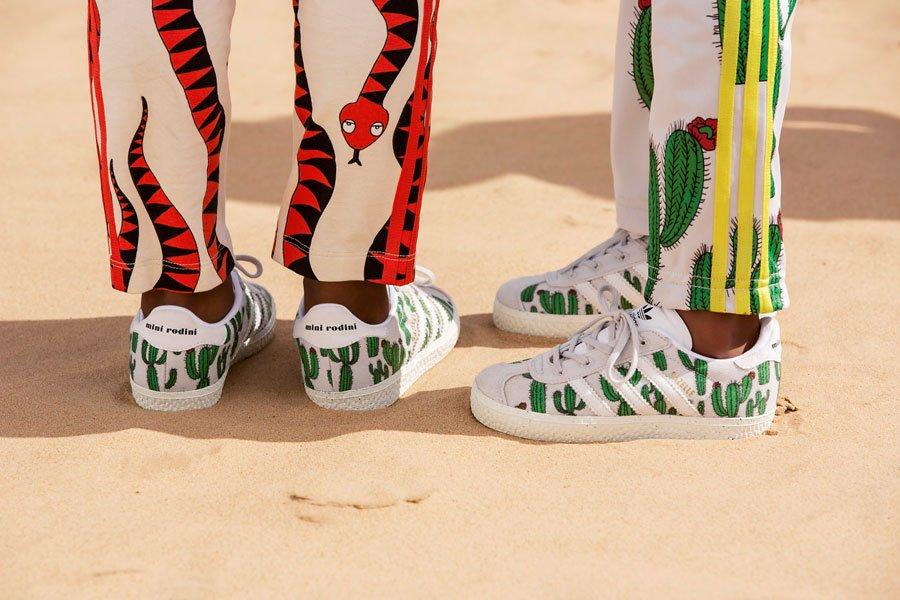 """Adidas Kult-Sneaker aus den 70ern: Die """"Gazelle"""" gibt es demnächst im Kaktus-Print von Mini Rodini"""