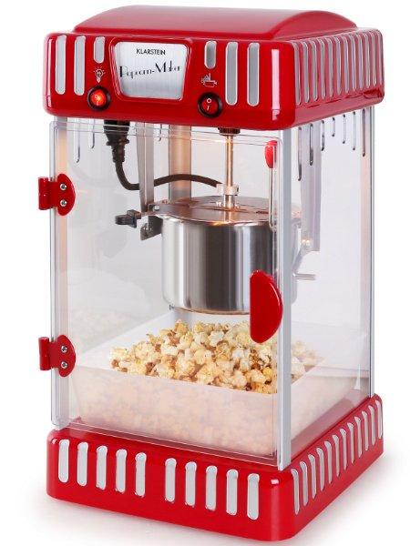 Geschenke für Filmfans: Die Volcano von Klarstein, eine Popcornmaschine für die Küche von Mr und Mrs Rockabilly