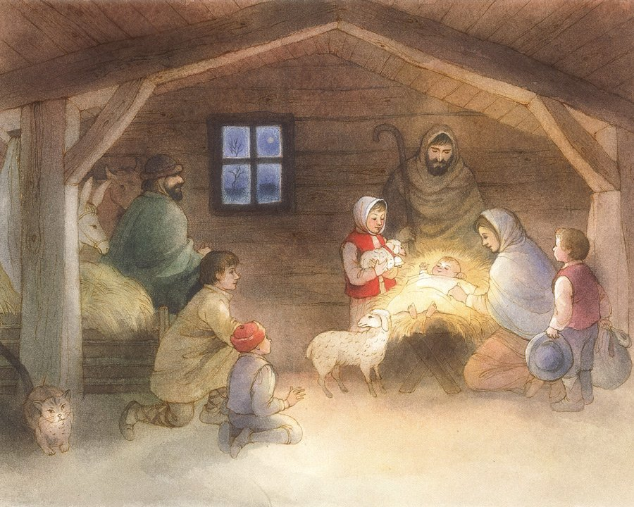 Rolf Krenzer webt die Geschichte um Rahel und das Glöckchen in die klassische Weihnachtsgeschichte ein © Bohem Press AG