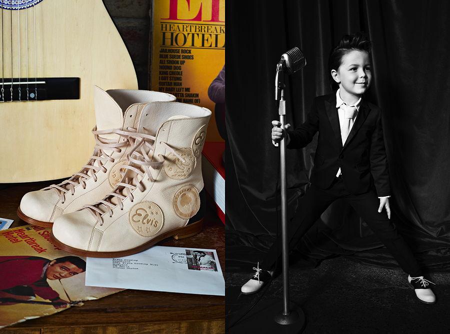 Lace' em up, dance all night! Das Modell FAN mit Vintage Aufnähern und die klassischen SADDLE Shoes – Images © Laura Hart