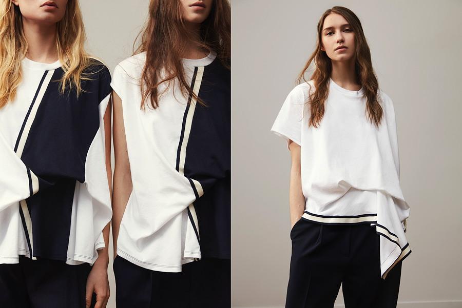 T-Shirt Entwürfe für Petit Bateau – die Designerin liebt Drapierungen und das Spiel mit Volumen. © Thomas Lohr