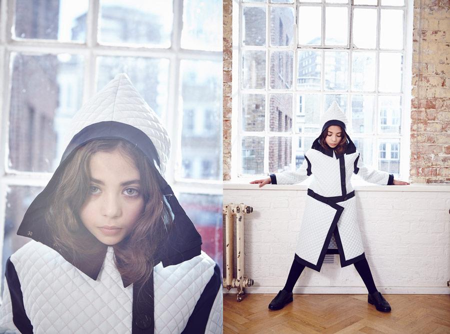 Für den Mantel SORA holten sich die beiden Designerinnen Inspiration von der japanischen Kampfsportmode
