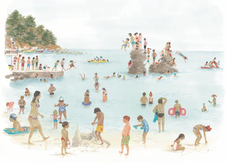 Strandnostalgie: so wimmelig wie hier wird ein Strandtag wohl lange nicht mehr aussehen © Bohem Verlag