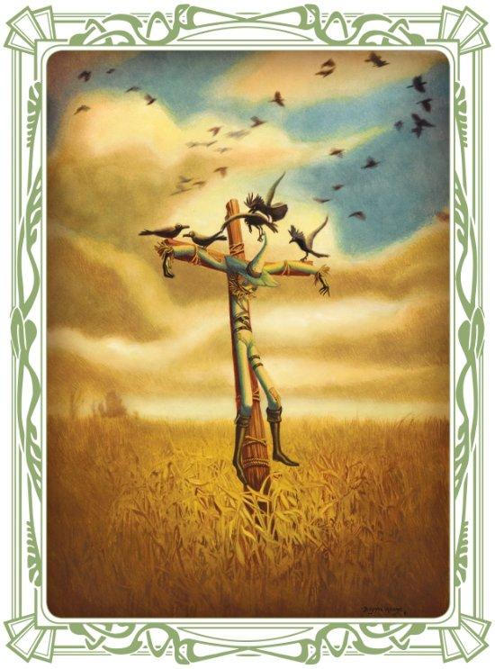 """Strohkerl """"Mais"""" sehnt sich nach einem Leben jenseits der Felder. © Jacoby & Stuart"""