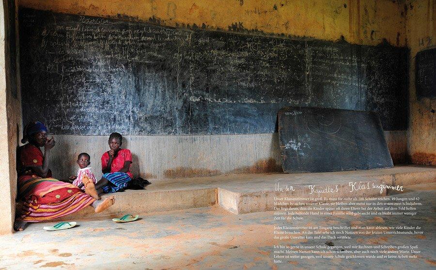 Die Schule des kleinen Mädchens Ombo ist manchmal Lern- und Wohnort zugleich