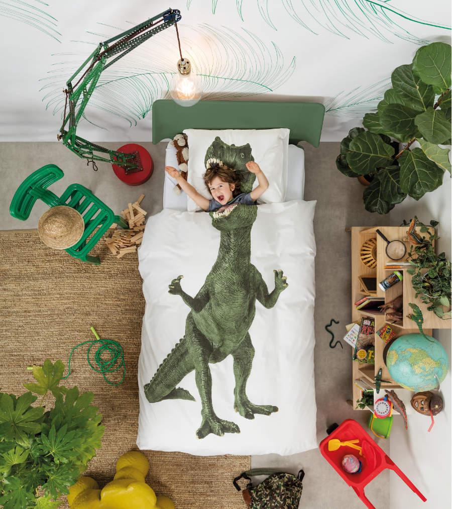 Dinosaurier-Bettwäsche mit hohem Nervenkitzelfaktor: SNURK ist definitiv nichts für Schnarchnasen!