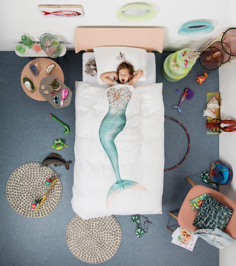 Träume sind (Meeres-)schäume? In dieser Bettwäsche geht der Traum vom Nixendasein garantiert in Erfüllung. Image © Snurk
