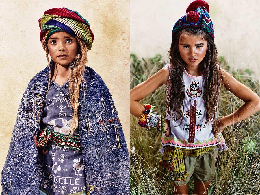 Mode für Globetrotter von Scotch R'Belle – ein Wickelkleid mit Nomadenmuster und ein Top mit tropischer Stickerei