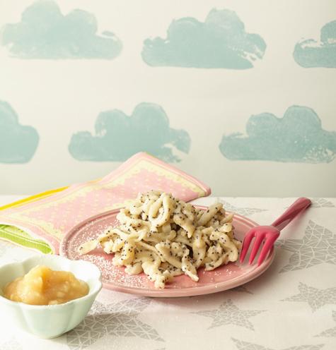 Spätzle, der kulinarische Exportschlager aus Schwaben mal anders – hier mit Banane und Mohn. Foto © Meike Bergmann, TRIAS Verlag