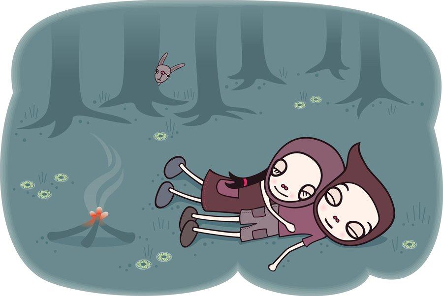 Märchenklassiker wie Hänsel und Gretel, hier im Comic-Stil verewigt von Judith Zaugg, sollen Kindern Mut machen © Kleine Gestalten