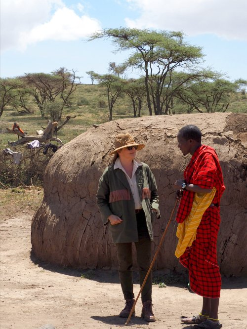 Teppich-Queen Lorena Canals auf Inspirationsreise in der Masai Mara