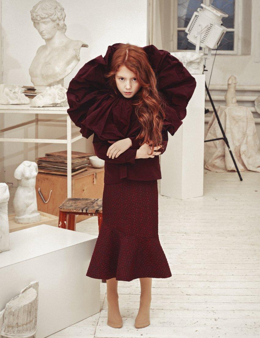 Winter Rose ... Ein wirklich königliches Party-Ensemble in wärmendem Burgunder-Rot