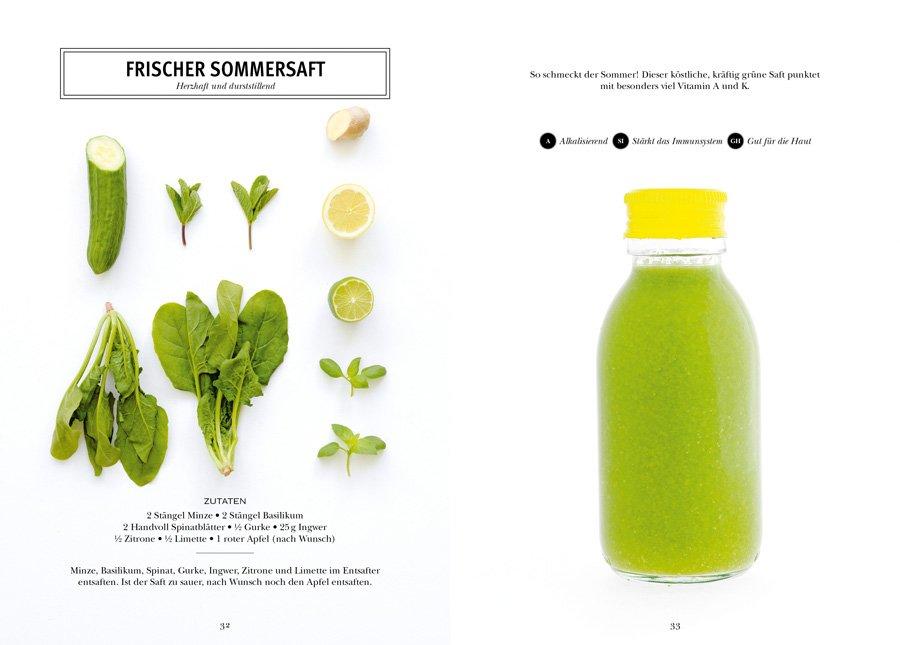 Stärkt das Immunsystem, ist gut für die Haut: Aus grünen Zutaten zaubert Fern Green einen frischen Sommersaft © DK Verlag