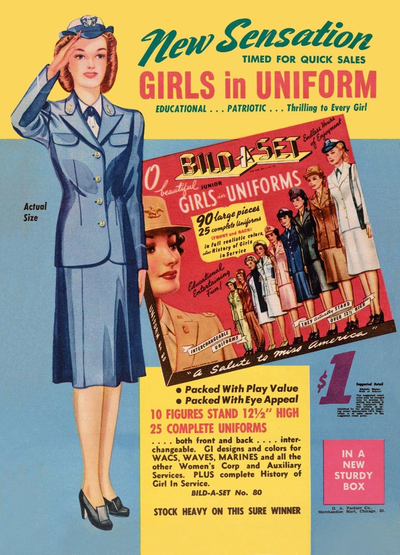 Die Paper Dolls in Uniforms von 1944 dokumentieren, wie Frauen für den Krieg eingespannt wurden © Jim Heimann Collection/Courtesy TASCHEN