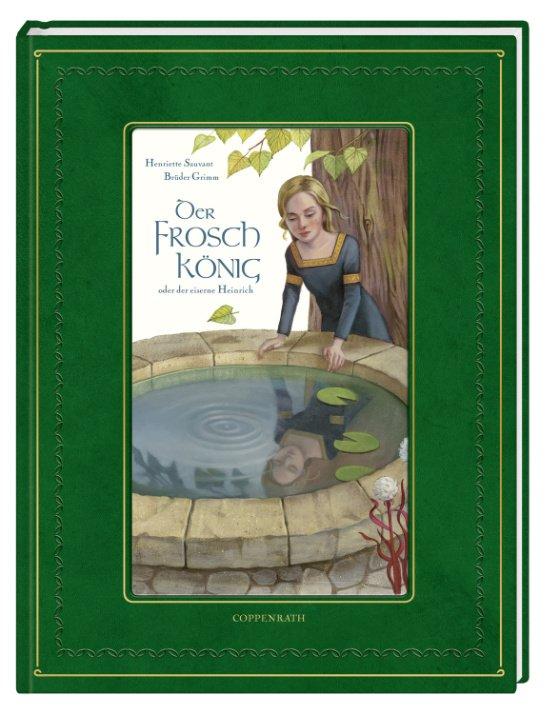 """Märchenbücher von seltenem Glanz: """"Der Froschkönig"""" in einer betont royalen Aufmachung © Coppenrath"""