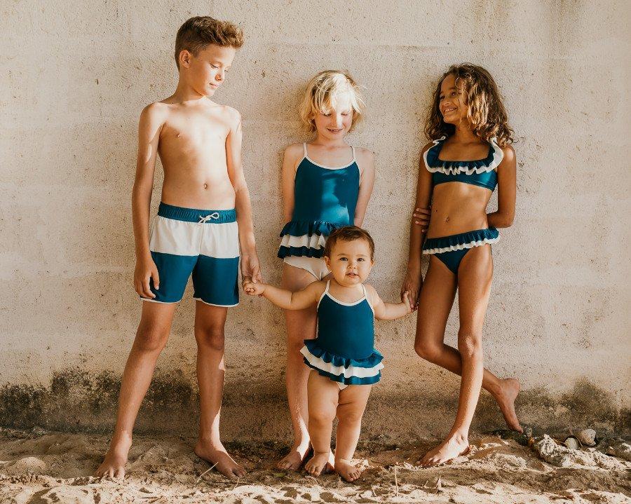 """Die Swimwear von FOLPETTO, venezianisch für kleiner Oktopus, ist so robust dass sie nach dem """"Hand-Me-Down""""-Prinizip an Geschwister vererbt werden kann"""