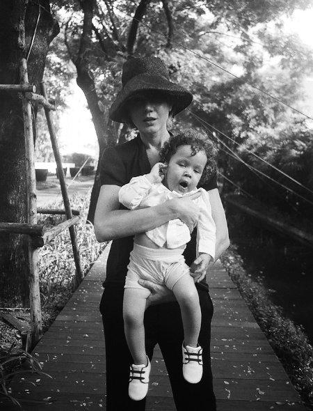 Ganna mit ihrem Sohn, dem einzig wahren Little Pushkin