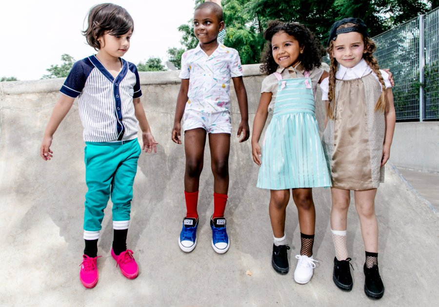 Eine Prise Baseball für die Jungs, eine Prise Jem and the Holograms für die Mädchen: Streetwear für Kinder mit 80s Flashback-Garantie