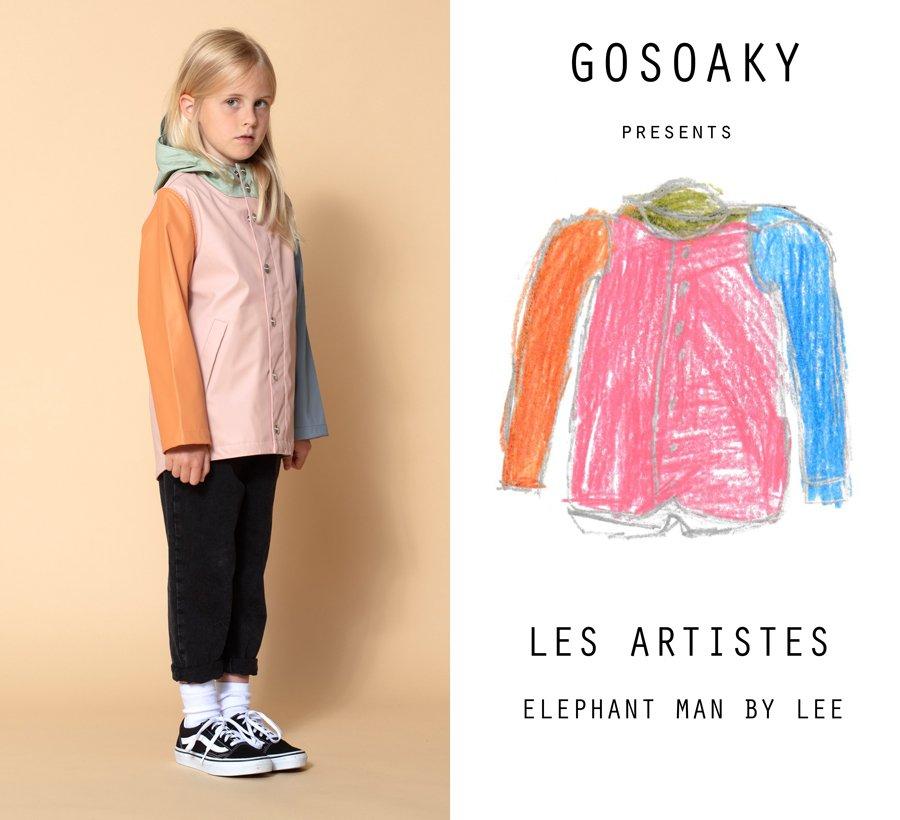 """Die Regenjacke als vollendetes Kunstwerk: """"Elephant Man"""", ein ikonisches Modell der Rainwear-Brand GOSOAKY im neuen Design"""