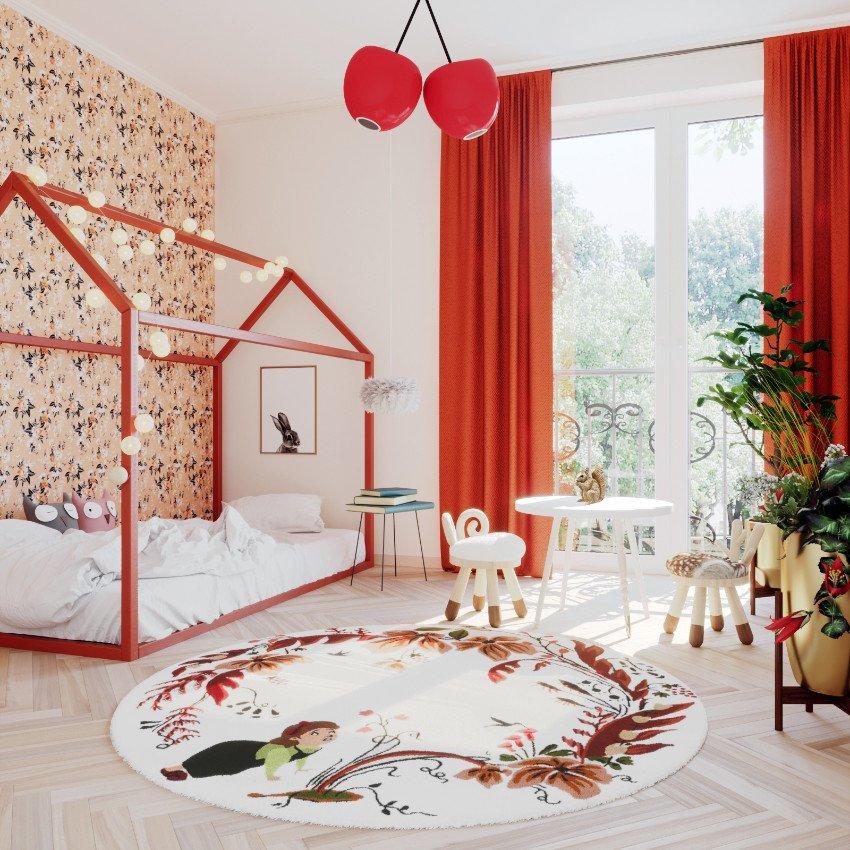 Aurore Martial entwirft nicht nur Teppiche für Kinder, sie versteht es auch fabelhaft Kinderzimmer in fantasievolle Oasen zu verwandeln