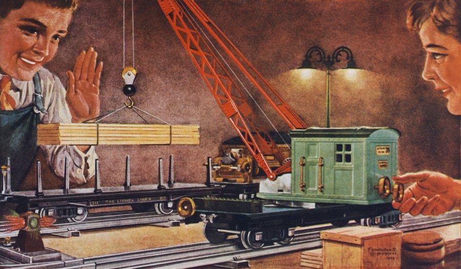 """Lionel Trains im Jahr 1928 zeigt eine heimelige Szenerie mit Hintergedanken: """"Technik ist was für Jungs!"""" © Jim Heimann Collection/Courtesy TASCHEN"""