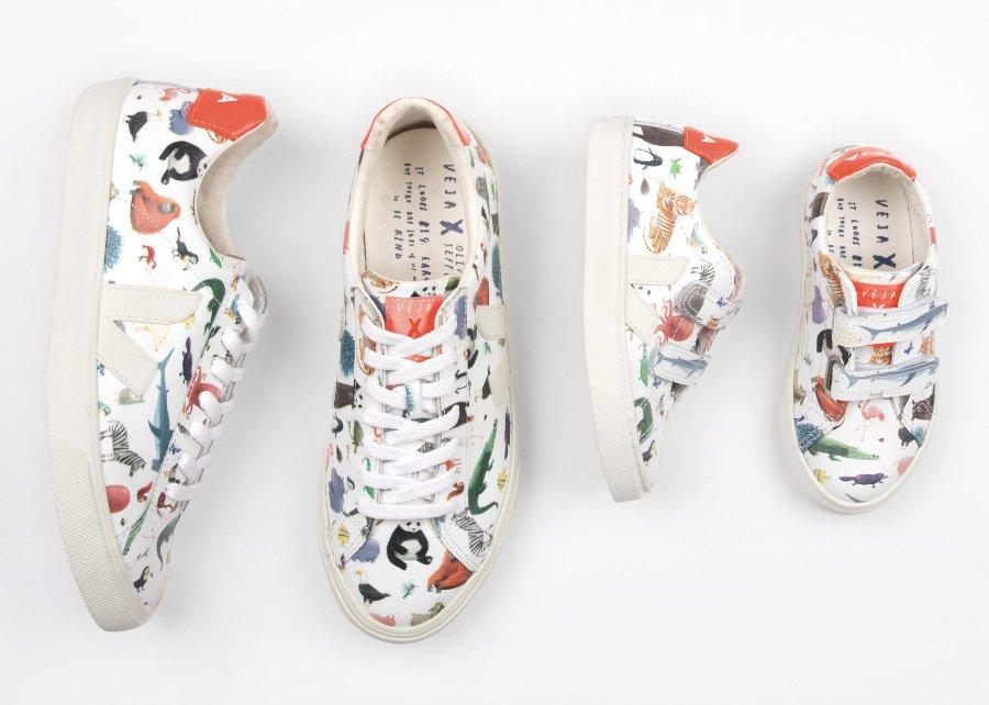 Artist Editions der besonderen Art: Nachhaltige Sneaker für Kinder und Erwachsene von VEJA mit Illustrationen des Autors Oliver Jeffers