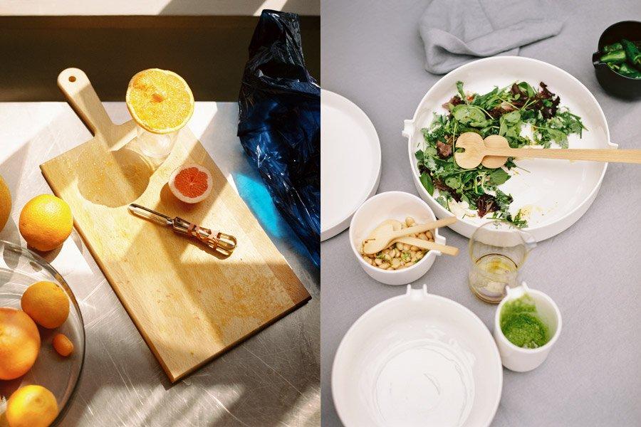 Skandinavischer Lifestyle beginnt in der Küche: Vom Schneidebrett bis zum Salatgeschirr findet man bei ARKET alles für den Haushalt